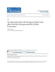 To what extent does the European Debt Crisis affect both the Euro.pdf