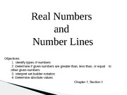 Presentation: Real Numbers and Number Lines