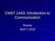 CMST 1A03 Review 2015