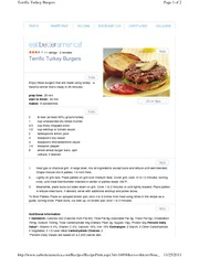 Terrific Turkey Burgers
