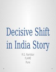 Decisive Shift in India Session 3 (18-10-2014)