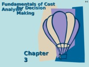 Fundamentals of Cost Analysis