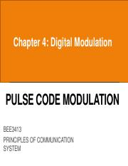 The binary codes used for PCM are n bit codes sign magnitude