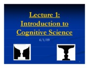 Lecture 1 Intro to Cognitive Science