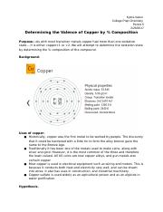 Determining the Valence of Copper by % Composition.docx