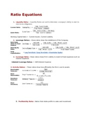 Ratio Equations