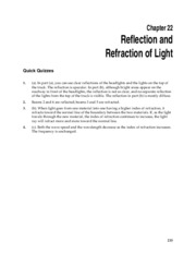 1_Chapter 22 HomeworkCH22 Reflection and Refraction of Light