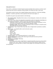 biotechnology Study guide for Exam 1