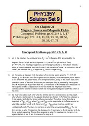 9 Solution Set 9 on chapter 21
