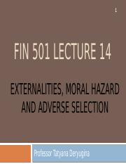 Lecture 15 - Externalities, moral hazard, adverse selection(1).pptx