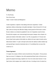 Business Memo Law 531