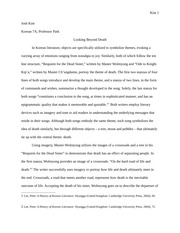 Korean 7A Midterm Essay- Looking Beyond Death