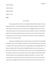 essay #5 The Lost Boys