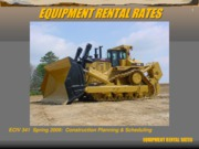 Pres 10  Equipment Rental Rates
