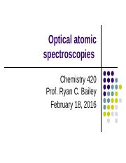 Lecture 10 - Atomic optical spectroscopies
