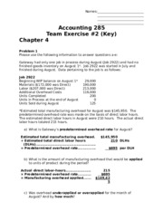 Team Exercise 2 Key (Chapters 4-5)