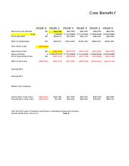 Gauckler Ted Week 2 Cost Benefit Analysis Alternative C Worksheet.xls
