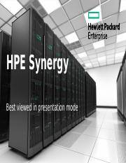 HPE Synergy Technical Overview.PPTX