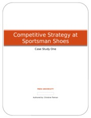 competitive strategy at sportsman shoes case analysis essay Further, various other footwear companies, such as adidas and new balance, were discussed briefly in the case analysis article reebok reebok is another company that produces shoes, similarly to nike.