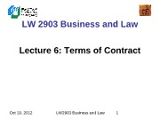 LW2903 Business Law 6(1)