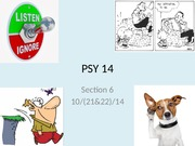 PSY 14 Fall 2014 Section 6