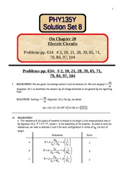 8 Solution Set 8 on chapter 20