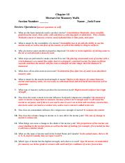 Foote-Chapter 10 Review Questions Mortars.docx
