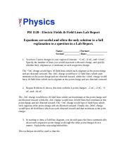 Upload_Electric Field and Field Lines - Lab Report1