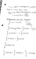 Properties of the integral notes