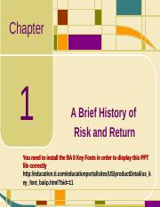 Chap01_A Brief History of Risk and Return.ppt