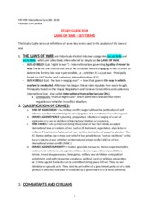 = Study Guide for Laws of War, Key Terms, 2015-16