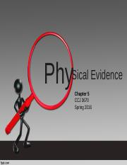 Chapter 5 Physical Evidence
