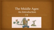 1 The Middle Ages