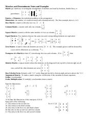 Matrices and Determinants Notes and Examples for blackboard(1)