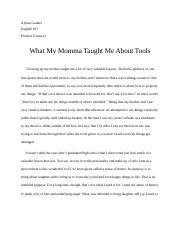 What My Momma Taught Me About Tools.docx