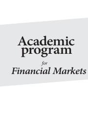 Academic Program for Financial Markets (Weeks 1-10)