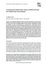 Bain, C. (2010)_Governing The Global Value Chain_Global GAP and Chilean Fresh Fruit Industry