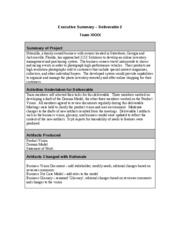 Sample.Executive Summary Deliverable 2