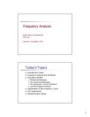 CEIE 340 Lecture 5 Frequency Analysis