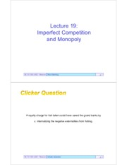 EC101Outlines19-ImperfectCompetitionMonopoly