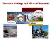 lecture 13 Economic Geology