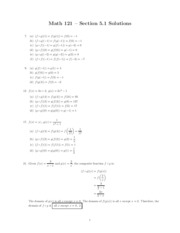 MATH 121 - Chapter 5 Composite, One-to-One, Inverse and Exponential Functions and Logarithms Homewor