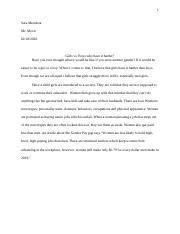 boys v girls essay