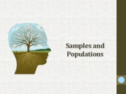 10 - Samples and Populations