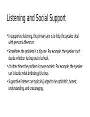 Listening and Social Support.pptx