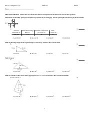 Math 105 Practice Test 3 Chapter 11&9