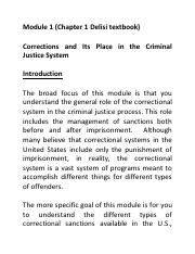 Module 1 Chapter 1 Corrections and Its Place in the Criminal Justice System.pdf