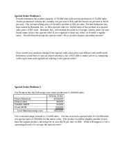 Review problems for Special order decisions(1)(1).docx