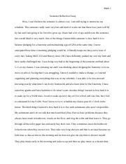 Semester Reflection Essay