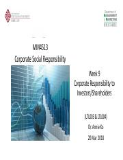 Week 9 Corporate Responsibility to Investors & Shareholders.pdf
